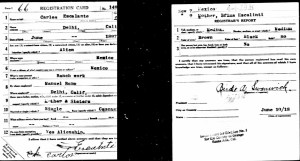 Carlos Escalante's WWI Draft Card, June 10, 1918.