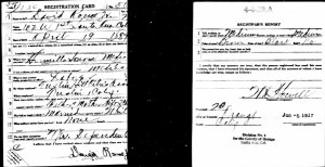 David Romo Jr's WWI Draft Card, June 5, 1917.