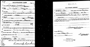 Leonardo Escalante Jr's WWI Draft Card. June 5, 1917.