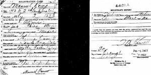 Manuel Romo's WWI Draft Card. June 5, 1917.