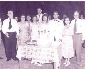 Carlos Escalante Jr.'s Wedding, 1957.