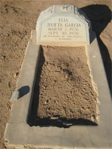Elia's gravesite - Mt. View Cemetery, not far from her grandmother, Rufina.