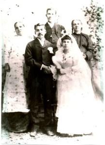 Alejandro Garcia and Rosa Martinez wedding photo (Tio Manuel Garcia in back).