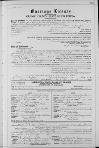 Maria and Hipolito's  Marriage License, 1915.