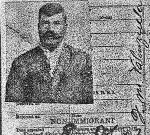 Jose Maria Valenzuela's travel manifest, 1927.