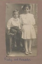 Rudy and Mercedes. Ventura County, between 1909-1910.