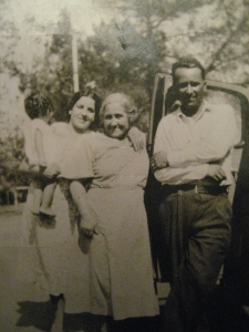 Son, Tia Cuca, Tia Guadalupe and Tio Ruben, around 1937, Calexico, CA.