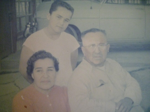 Tia Cuca, Son Ruben, and Tio Ruben - 1950s.