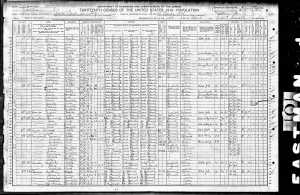 1910 US Census - Santa Paula, CA.