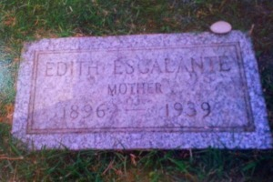 Edith Escalante's Tombstone, Rose Hills Cemetery.