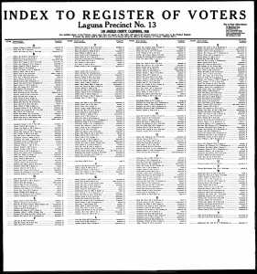 LA Voter Registration - 1936.