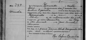 Manuela Ismael's Baptism, 1919.