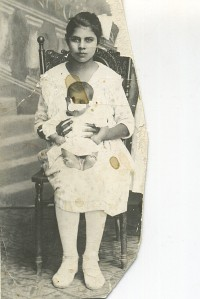 Tia Rita Corral and Manuela on her lap (1920ish). Photo courtesy of Tia Lola.