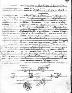 Death Registration of Francsico Palacios, 1940.