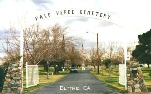 Palo Verde Cemetery, Blythe, CA.