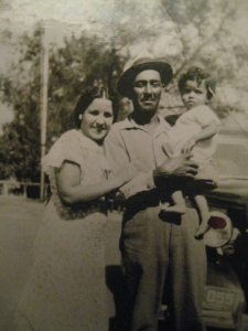 One more photo. Tia Cuca, Tio Manuel Garcia, Baby Escalante.