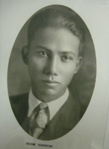 Rene's graduation picture found at the Pioneer's Park Museum.
